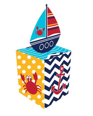 Nautical Ahoy Matey Favour Boxes (8)