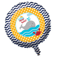 Nautical Ahoy Matey Foil balloon (18in)