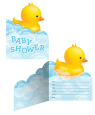 Rubber Duck Baby shower Invites (8)