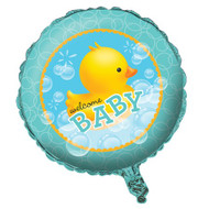Rubber Duck Bubble bath Welcome Baby Foil Balloon (18in)