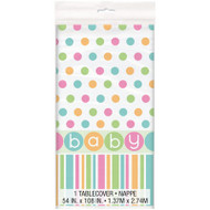 Pastel Baby Shower Tablecover (54inx84in)