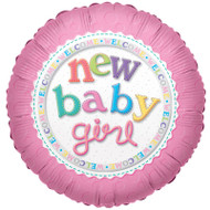 Welcome New Baby Girl Foil Balloon (18 in)