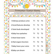 Baby Shower Quiz Trimester Tester Game (8)