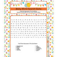 Baby Shower Word Search Floral Design (8)
