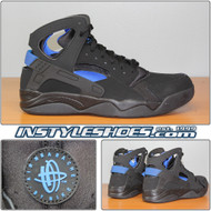 Air Flight Huarache Black Lyon Blue 705005-002