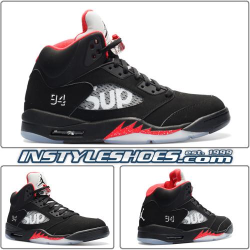 Air Jordan 5 Supreme Black 824371-001