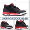 Air Jordan 3 GS Black Crimson 398614 005