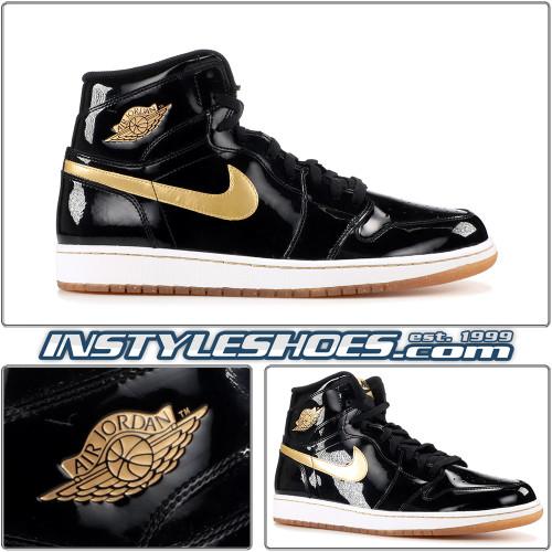 Air Jordan 1 High OG Black Gold 555088-019