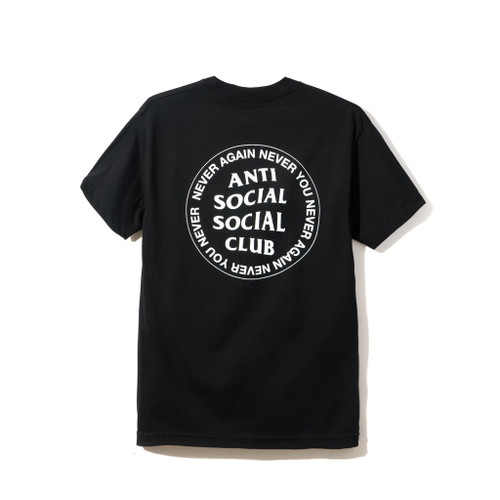 Anti Social Social Club Never Again Black Tee