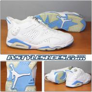 Air Jordan 6 Low White University Blue 304401-141