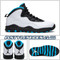 ir Jordan 10 Powder Blue 310805-106