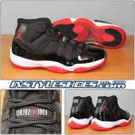 Air Jordan 11 Black Varsity Red 378037-010 Bred 2012 Retro