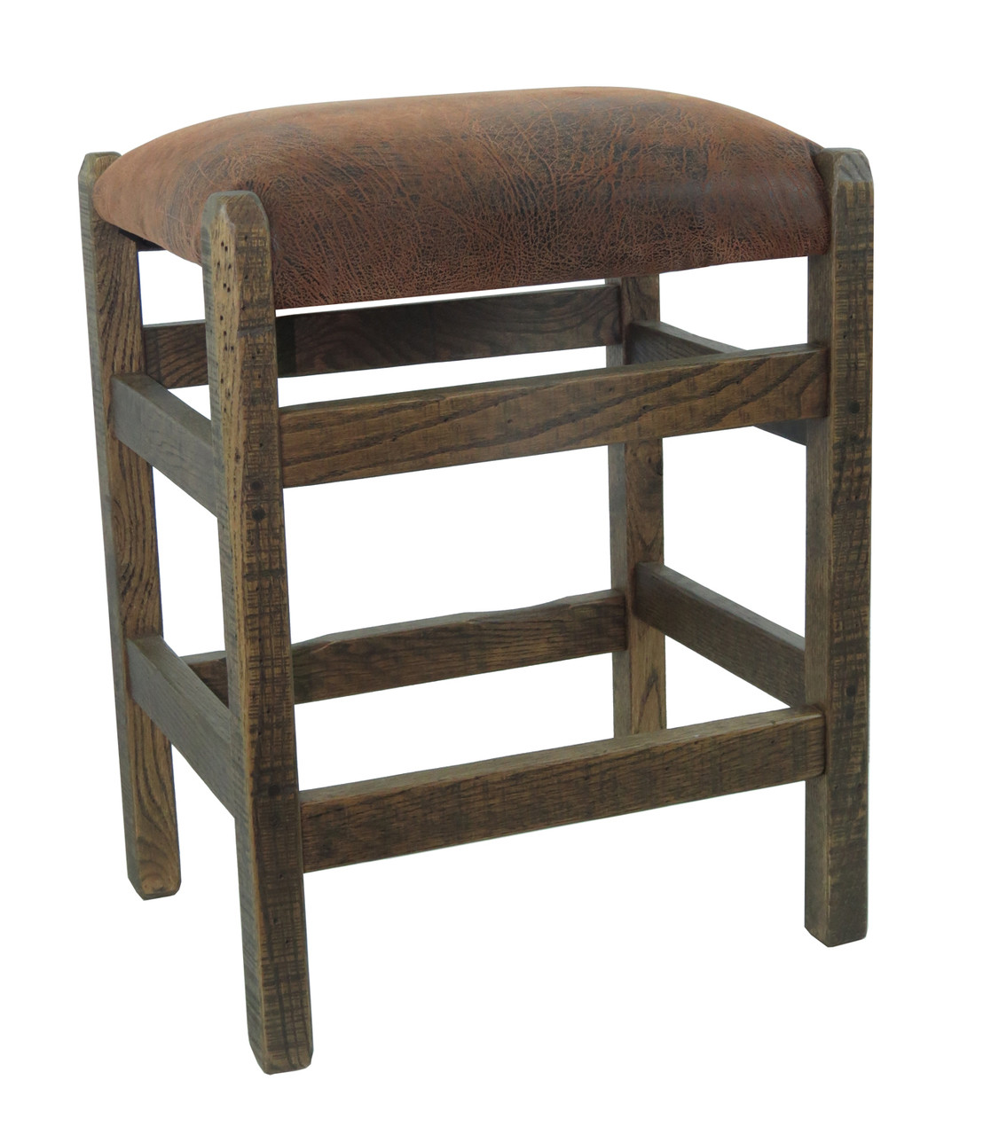Barn Wood Bar Stool 24 Quot Backless