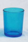 Turquoise Blue Shot Glass Tealight Votive Candle Holder 6cm