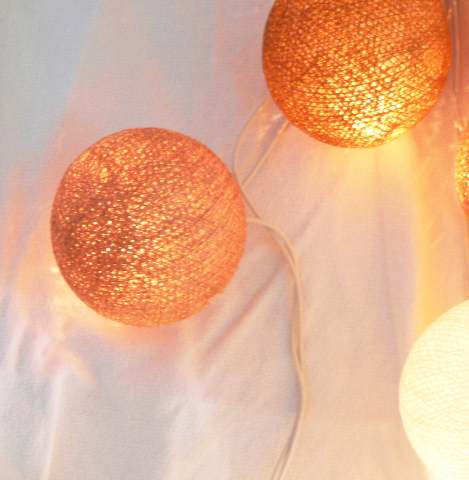 Brown Colours Ball Fairy Lights on a 10 Metre Wire String Party Mood