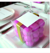 PVC Bomboniere box wedding or christening 5cm cube