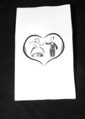 White Wedding Ball cake bag dancing bride groom
