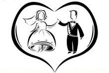 Wedding Ball cake bag dancing bride groom