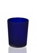 Blue Frosted Glass Shot GlassCup Candle Holder