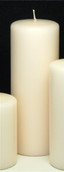 17cm tall pillar wax candle - 25 hours + burn time