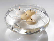 4cm white wax floating candle