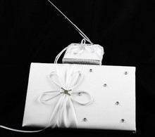 White Wedding Guest Register Book