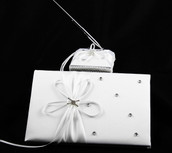 White Wedding Guest Register Book