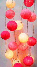 Pink Ball LED Fairy String Lights