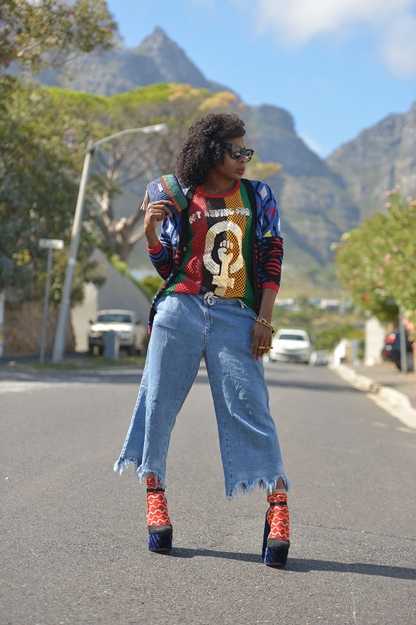 Maxhosa by Laduma Cardigan and Socks, AAKS Clutch