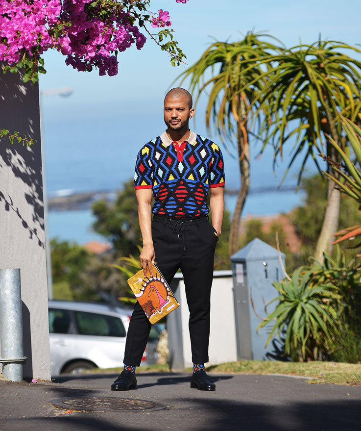 Maxhosa by Laduma Golf Shirt and Pattern Socks