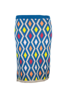 Blue Xhosa Pattern Skirt