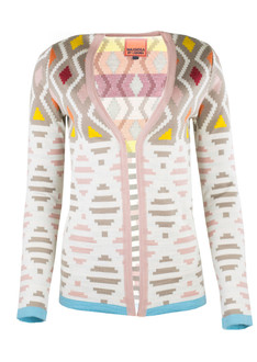 Brown-Pink Pattern Cardigan