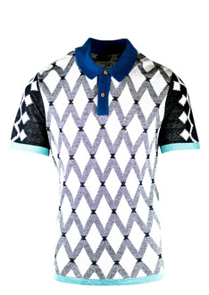 Monochrome Pattern Golf Shirt