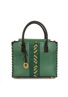 Green lara tote bag