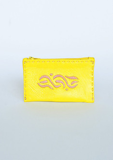 Yellow coin pouch