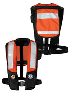 Mustang T2 Deluxe Auto Inflatable Type V PDF with SOLAS Tape - orange / black