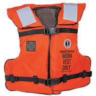Mustang Type III / V Work Vest with SOLAS Tape - orange