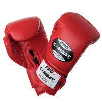 PRO COMBAT Training Gloves with Velcro Closure Red Color