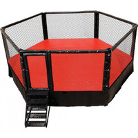 PRO MMA® Elevated Competition Cage 24 X 24 Hexagon Series