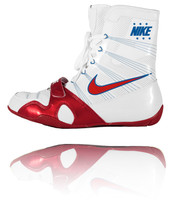Nike HyperKO - White / Royal / Red Boxing Shoes