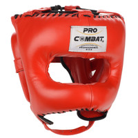 PRO COMBAT Elite Traditional Headgear with Nylon Bar Red