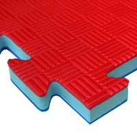 "Pro Fight 1"" Interlocking Puzzle Mat Red / Blue"