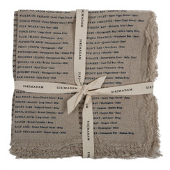 North American Oysters Napkins, Natural, set of 4