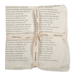 North American Oysters Napkins, Oyster White, set of 4