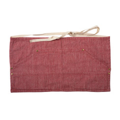 HERRINGBONE WORKERS APRON, RED