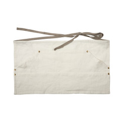 LINEN WORKERS APRON, OYSTER WHITE