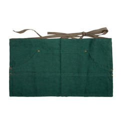 LINEN WORKERS APRON, EMERALD