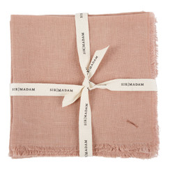 SOLID LINEN NAPKINS, SALMON, SET OF 4