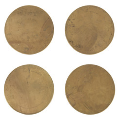 Brass Coasters, Set of 4