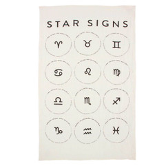 Star Signs Pure Linen Tea Towel